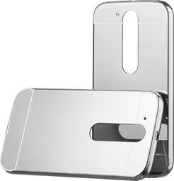 Hurtel Aluminiowy pokrowiec etui Metal Mirror Bumper Motorola Moto G4 srebrny