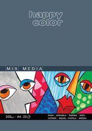 Blok biurowy Happy Color BLOK MIX MEDIA HAPPY COLOR A4 25K