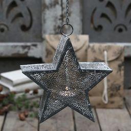 Chic Antique Wiszący Świecznik Gwiazda