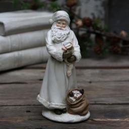 Chic Antique Figurka Świąteczna Mikołaj z Prezentami