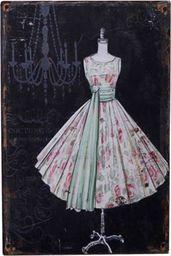 Chic Antique Obrazki Metalowe Chic Antique Suknia