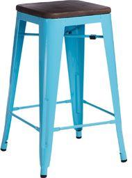 D2 Design Hoker Paris Wood 65cm niebieski, sosna orzech