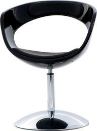 D2 Design Fotel FLOP czarny z czarnym siedziskiem