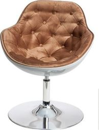 D2 Design Fotel Pezzo Velvet K- biały, 1424 brązowy