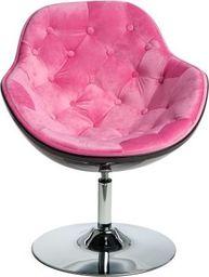 D2 Design Fotel Pezzo Velvet K- czarny, 1411 różowy