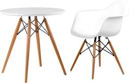D2 Design Stół DTW 70 cm, blat biały