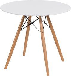 D2 Design Stół DTW 80 cm, blat biały
