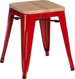 D2 Design Stołek Paris Wood czerwony sosna naturalna