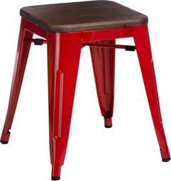D2 Design Stołek Paris Wood czerwony sosna orzech