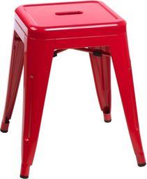 D2 Design Stołek Paris czerwony