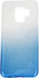 nemo Etui glitter Samsung A8+ 2018 srebrno-niebieski
