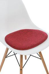 D2 Design Poduszka na krzesło Side Chair czerwony melanż