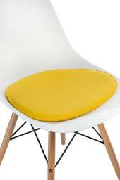 D2 Design Poduszka na krzesło Side Chair żółta