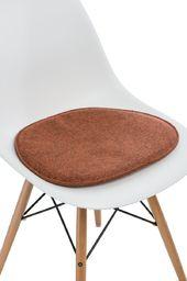D2 Design Poduszka na krzesło Side Chair pomarańczowy melanż