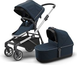 Wózek Thule Thule Sleek + Bassinet + Main Seat - Navy Blue