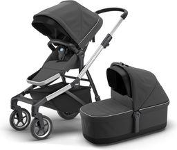 Wózek Thule Thule Sleek + Bassinet + Main Seat - Shadow Grey