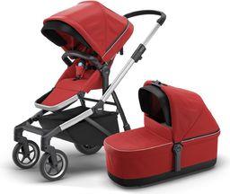 Wózek Thule Thule Sleek + Bassinet + Main Seat - Energy Red