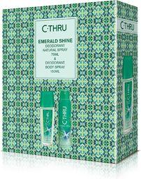 C-Thru C-THRU Zestaw prezentowy Emerald Shine (Deo spray 150 ml + Deo naturalny spray 75ml)