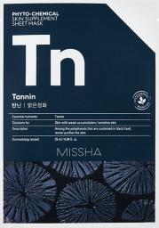 Missha Phyto-Chemical Skin Supplement Oczyszczająca maska w płachcie na twarz Tannin 25ml