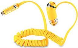 Ładowarka Remax samochodowa CUTIE RCC211 2.4A żółta TYP C + IPHONE 5/6