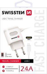 Ładowarka Swissten Ładowarka sieciowa  SWISSTEN USB-C 2.4A biała