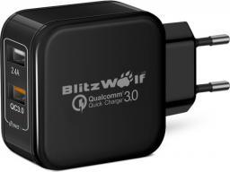 Ładowarka BlitzWolf USB; kolor czarny (BW-S6 EU)