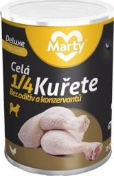 MARTYPET Karma mokra dla psa Deluxe 1/4 kawałki kurczaka 400g
