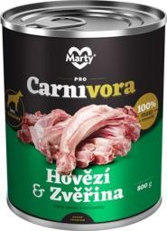 MARTYPET Karma mokra dla psa Carnivora dziczyzna z wołowiną 800g