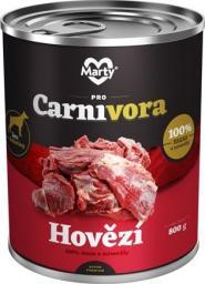 MARTYPET Karma mokra dla psa Carnivora wołowina 800g