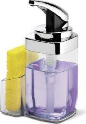 Dozownik do mydła Simplehuman łazienkowy z uchwytem na gąbkę chrom (KT1159)