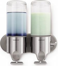 Dozownik do mydła Simplehuman manualny podwójny srebrny (BT1028)