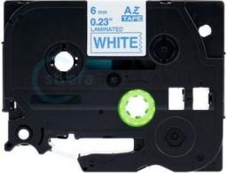 Strefa Drukarek Brother tze-213 biała/niebieski nadruk 6mm x 8m zamiennik