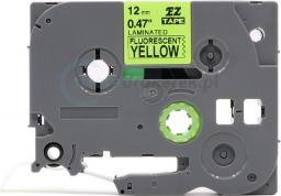 Strefa Drukarek Taśma fluorescencyjna brother żółta 6mm/8m tze-c11