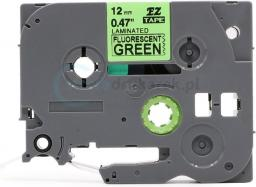 Strefa Drukarek Taśma fluorescencyjna brother zielona 6mm/8m tze-d11