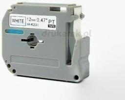 Strefa Drukarek Taśma brother nielaminowana m-tape m-k231, 12mm/8m
