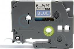 Strefa Drukarek Brother tze-515 niebieska/biały nadruk 6mm x 8m zamiennik