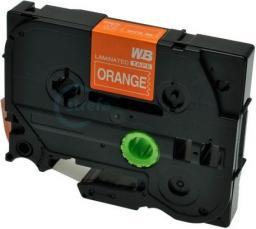 Strefa Drukarek Brother tze-615 pomarańczowa/biały nadruk 6mm x 8m zamiennik