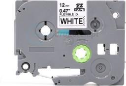 Strefa Drukarek Taśma do brother flexi tze-fx231 biała/czarny nadruk 12mm x 8m zamienn