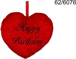 Kemis Poduszka serce Happy Birthday 25 cm