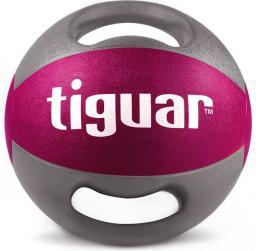 Tiguar Piłka lekarska z uchwytami fioletowa 5 kg (TI-PLU005)