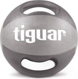 Tiguar Piłka lekarska z uchwytami szara 8 kg (TI-PLU008)