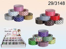 Kemis Taśma dekoracyjna Washi Tape mix 1.5x300cm