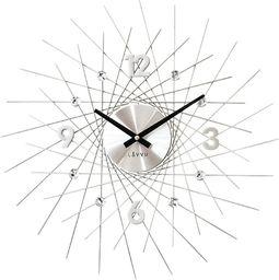Lavvu Zegar ścienny LAVVU LCT1050 z kryształkami, średnica 49,5 cm
