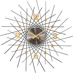 Lavvu Zegar ścienny LAVVU LCT1051 z kryształkami, średnica 49,5 cm
