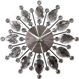 Lavvu Zegar ścienny LAVVU LCT1121 z kryształkami, średnica 33 cm