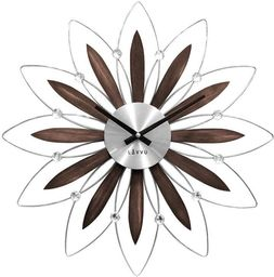 Lavvu Zegar ścienny LAVVU LCT1110 z kryształkami, średnica 49,5 cm