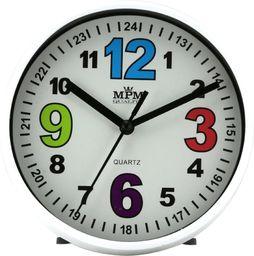 MPM Zegar ścienny / stołowy MPM E01.3685.00 fi 15 cm Kolorowy