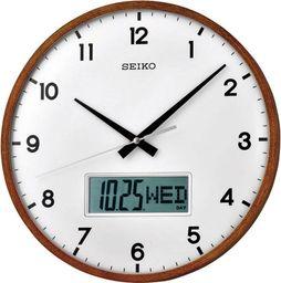 Seiko Zegar SEIKO QXL008B z datownikiem 33 cm Cichy Mechanizm