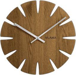 Vlaha Drewniany dębowy ręcznie wykonany zegar ścienny VLAHA VCT1014