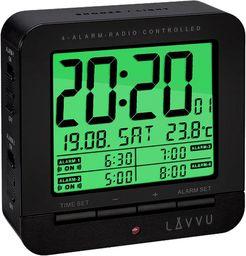 Lavvu Budzik LAVVU LAR0011 Termometr Sensor Light 4 alarmy DCF77